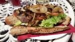 King William IV bbq steak sandwich