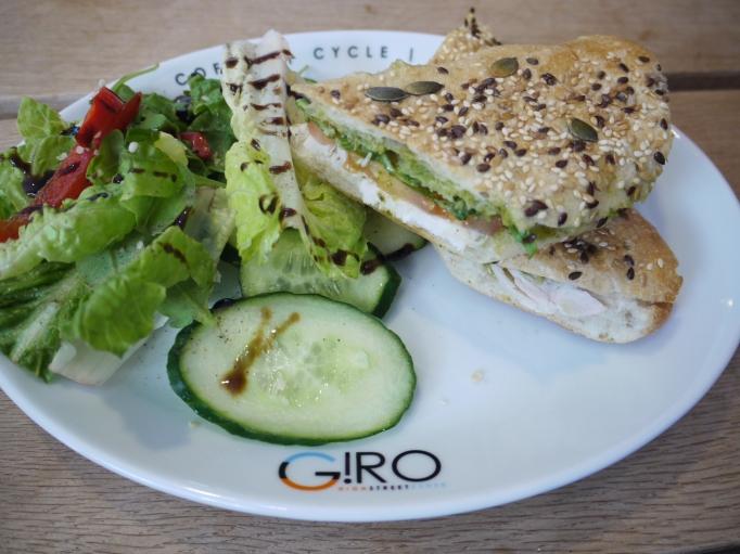 Giro Cafe chicken pesto sandwich