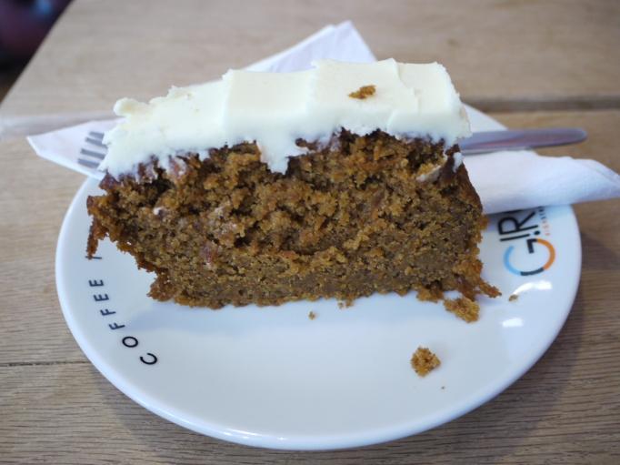 Giro Cafe gluten free carrot cake