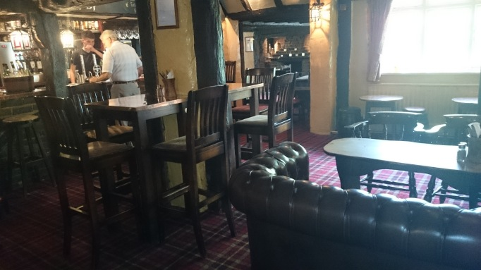 The Cricketers Downside Cobham interior bar area
