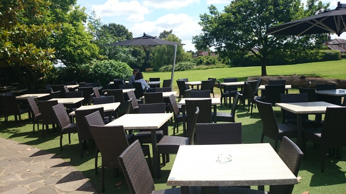 The Cricketers Downside Cobham exterior patio terrace