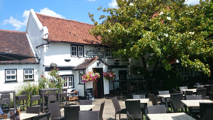 The Cricketers Downside Cobham exterior