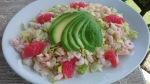 The Cricketers Downside Cobham prawn avocado salad