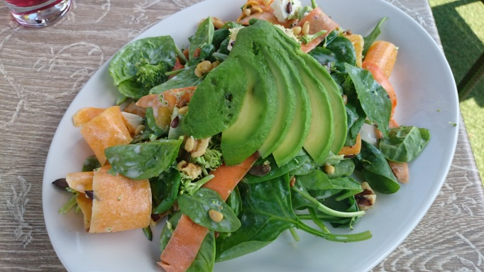 The Cricketers Downside Cobham healthy carot squash spinach seeds nuts broccoli avocado salad