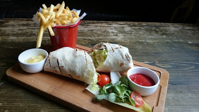 The Bear Esher chicken caesar wrap