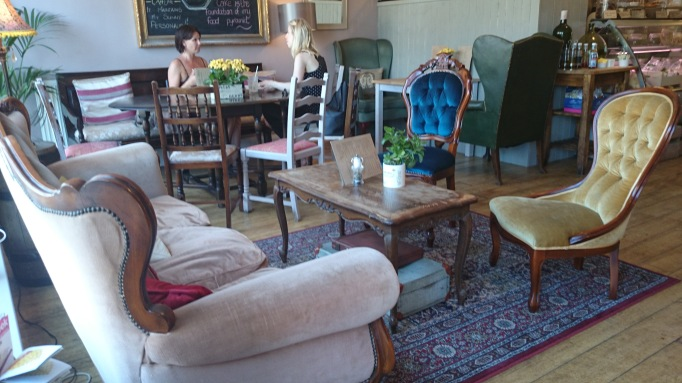 Nikki's Caffe Weybridge internal comfy chairs