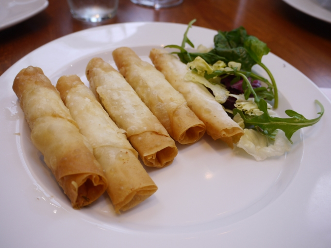 Cappadocia Walton-on-Thames Sigara Borek vegetarian £4.90 (Traditional Turkish Cheese Pie)