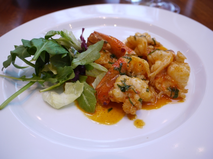 Cappadocia Walton-on-Thames Tiger prawns sauted in white wine (optional), fresh garlic and herbs