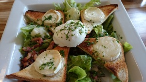 Normandy goat cheese salad