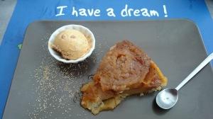 Normandy apple tart with ice cream