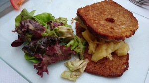 Pate and salad, Rouen Normandy France