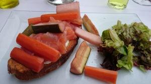 Normandy smoked salmon