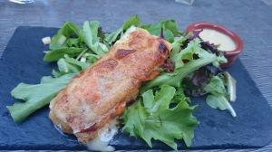 Normandy spring roll with camembert
