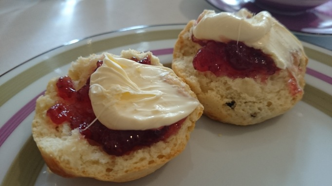 Great Fosters afternoon tea scones jam and clotted cream