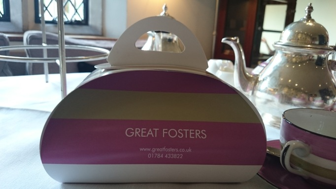 Great Fosters takeaway box