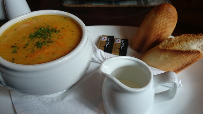 Seven Stars Ripley carrot and coriander soup