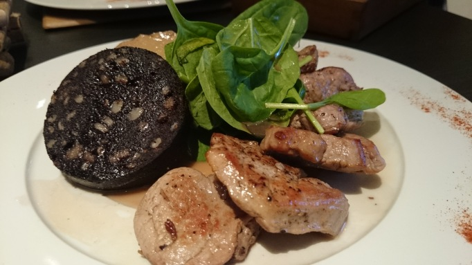 The Tree House Weybridge pork loin and black pudding