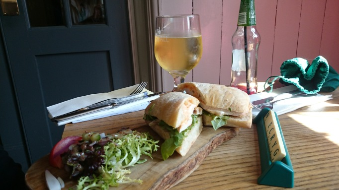 The Plough Effingham ciabatta sandwich