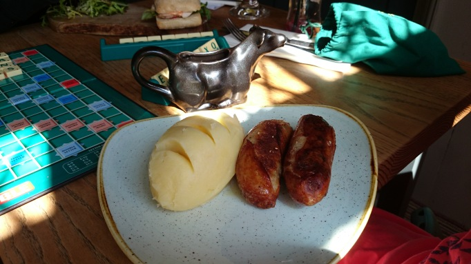 The Plough Effingham sausage and mash