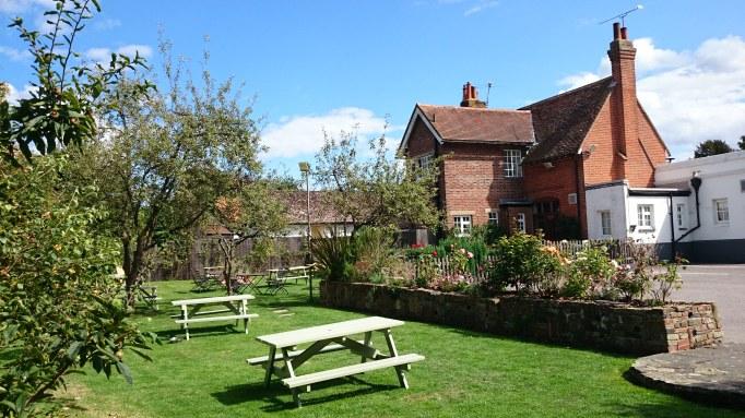 The Plough Effingham garden