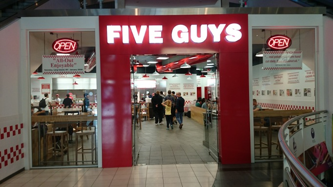 Five Guys Kingston entrance