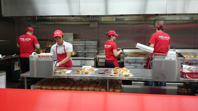 Five Guys Kingston kitchen
