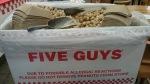 Five Guys Kingston free peanuts
