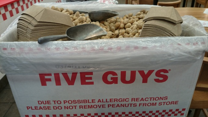 Five Guys Kingston free peanuts