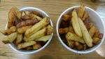 Five Guys Kingston regular chips and cajun chips