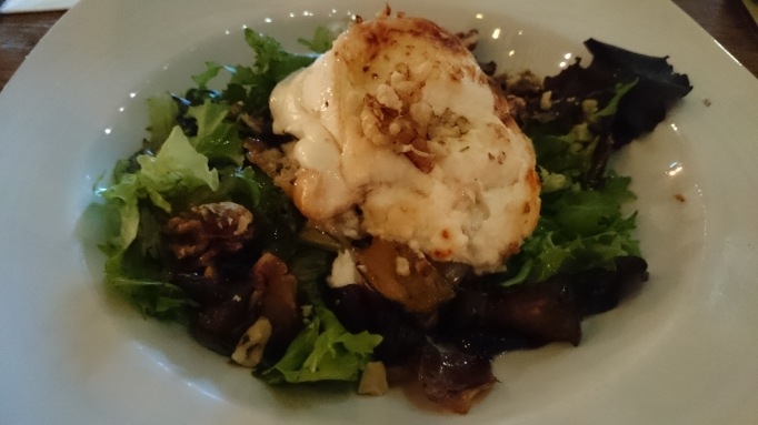 Crown & Cushion goat cheese salad