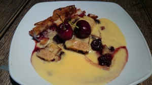 Craft & Grill cherry pie with custard