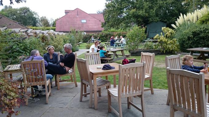 The Old Plough Cobham garden