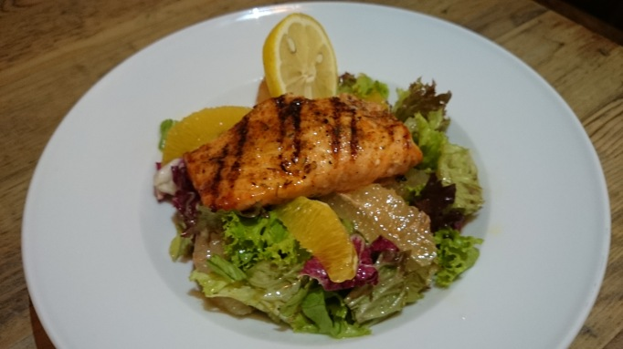 Henry's Kitchen salmon salad with citrus fruit