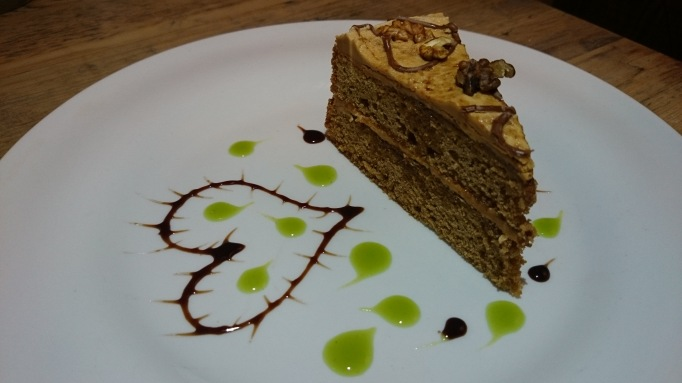 Henry's Kitchen coffee and walnut cake