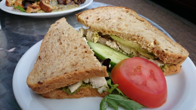 Mada Deli chicken pesto sandwich
