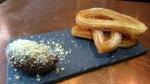 churros con chocolate at Dar