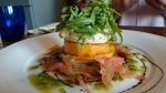 The Foley butternut squash & smoked trout stack