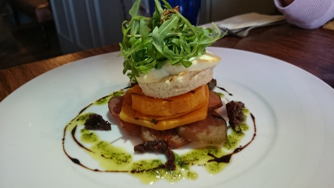 The Foley butternut squash and goat cheese stack