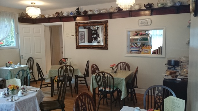 Chocolate Teapot Tearoom Esher interior