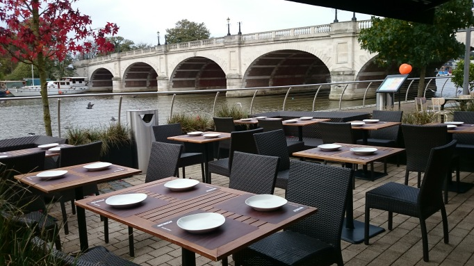 Busaba Kingston-upon-Thames  al fresco seating by river