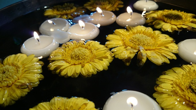 Busaba Kingston-upon-Thames  floating candles, flowers