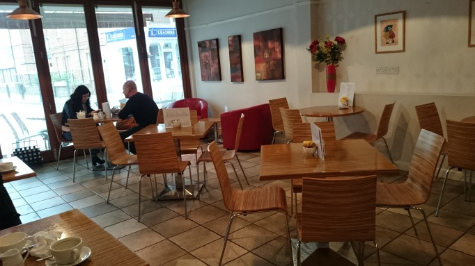 Baker street coffee house seating area