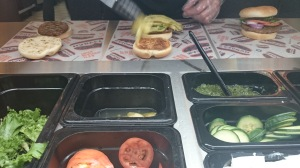 Harveys burger toppings