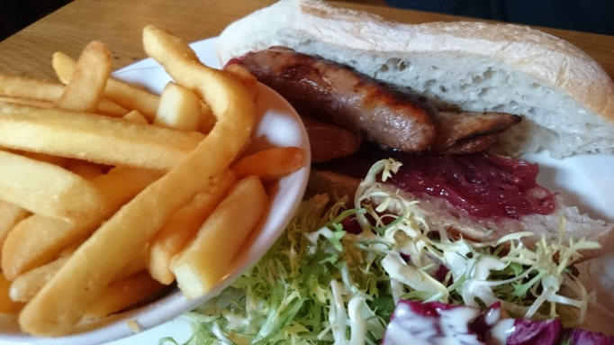 Queen's Head Weybridge sausage baguette