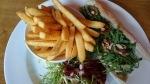 Queen's Head Weybridge goat's cheese, beetroot and walnut baguette