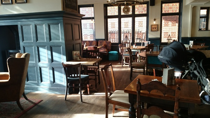 The Crown Chertsey interior bar seating area