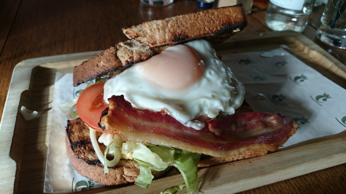 The Crown Chertsey club sandwich with egg