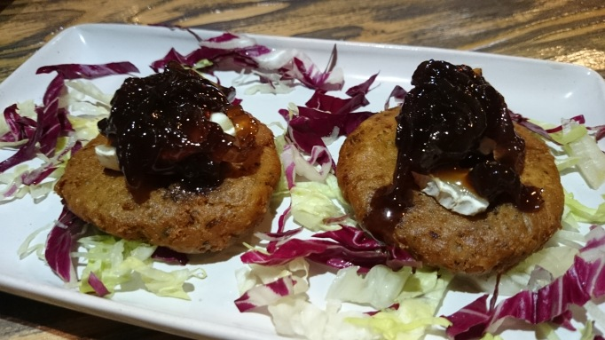 falafel with sweet onion chutney