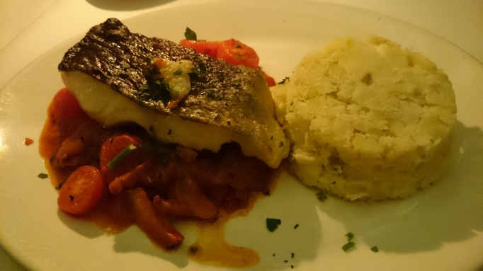 Olivo cod chilli tomatoes sweet peppers pancetta potatoes leeks