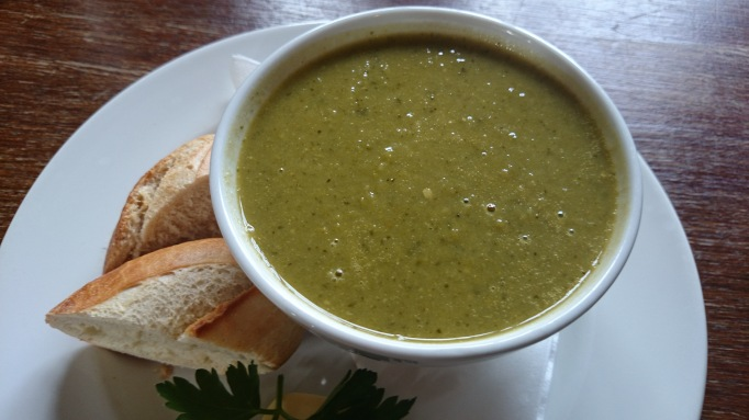 Stephan Langton pub surrey  pea and mint soup